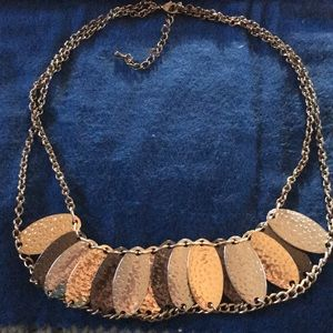 Jewelry - Gold, silver, and black necklace